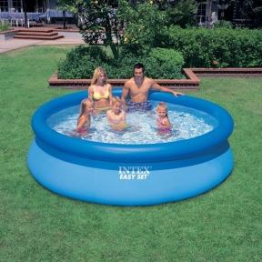 Полунадувной Бассейн Intex Easy Set Pool 305 X 76 См