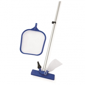 Набор для чистки бассейна, 3 предмета: сачок, щётка, ручка 203 см Bestway