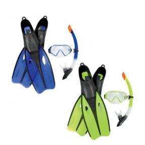 Набор для плавания Dream Diver, для взрослых, 3 предмета: маска, ласты, трубка, размер 42-44, цвет МИКС Bestway