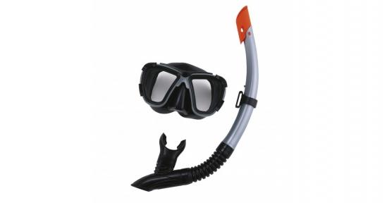Набор для плавания Black Sea, для взрослых, 2 предмета: маска, трубка, цвет МИКС Bestway