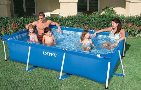 Каркасный бассейн Intex Rectangular Frame 220х150х60см