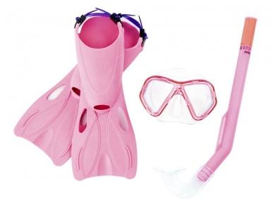 Набор для плавания Galapagos (маска, трубка, ласты), размер 34-37 от 3 лет, цвет микс
