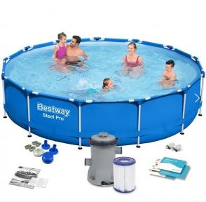 Каркасный BestWay бассейн 396х84 см, фильтр-насос 2006л/ч