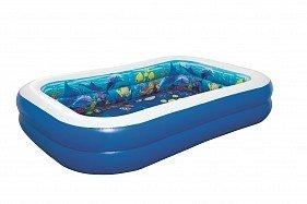 BW Детский надувной бассейн с 3D рисунком Поиски сокровищ, 262x175x51см, 778 л, от 3 лет