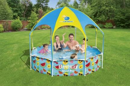 Каркасный бассейн с навесом Bestway  244х51см, 1688л