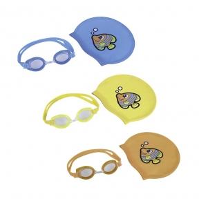 Набор для плавания, 2 предмета: шапочка, очки, от 7 лет, цвет МИКС Bestway