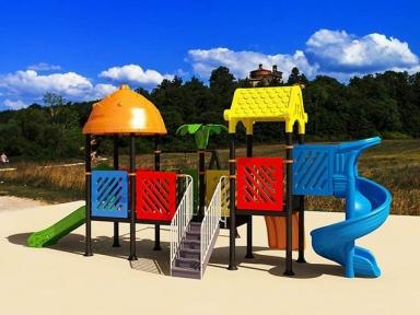 Уличный детский игровой комплекс с качелями и горками  ИК-036