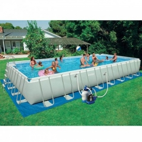 Прямоугольный каркасный бассейн Intex 975x488x132 см