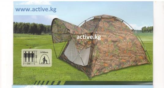 Палатка полуавтомат с козырьком