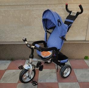 Детский трехколесный велосипед с управлением YH