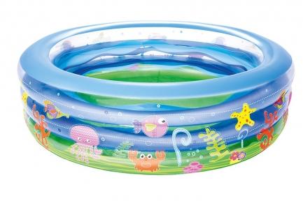 Детский круглый бассейн Bestway Summer Wave Crystal, 152х51 см