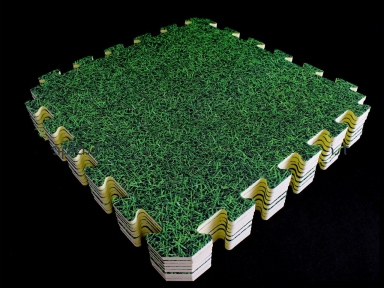 Коврик-пазл в виде газона 120*120 см