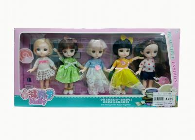 Кукла аниме Маленькая ученица Му. Набор из 5 кукол