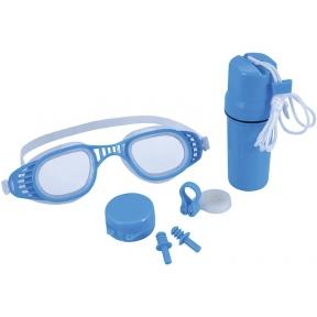 Набор для плавания, 3 предмета: очки, зажим для носа, беруши, от 7 лет, цвет МИКС