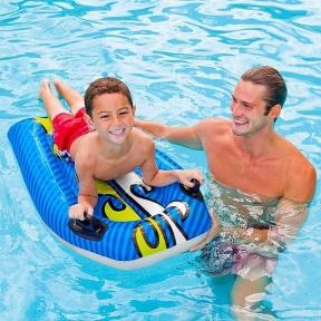 Intex Надувной плот для плавания с держателями 112*62 см