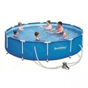 Каркасный круглый бассейн Bestway 305 Х 76 cм с фильтр-насосом 1249л/ч