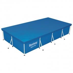Тент для прямоугольных, каркасных бассейнов, 410 х 226 см Bestway