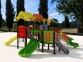 Уличный детский игровой комплекс с качелями и горками  ИК-013