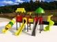 Уличный детский игровой комплекс с качелями и горками  ИК-034
