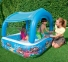 Детский бассейн Bestway с навесом от солнца, 147х147х122 см