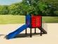 Уличный детский игровой комплекс с качелями и горками  ИК-019