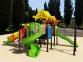 Уличный детский игровой комплекс с качелями и горками  ИК-030