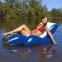 Intex Надувное кресло-шезлонг для плавания  с подстаканником и ручкой 180*135 см