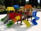 Уличный детский игровой комплекс с качелями и горками  ИК-012