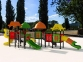 Уличный детский игровой комплекс с качелями и горками  ИК-011