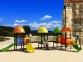 Уличный детский игровой комплекс с качелями и горками  ИК-035