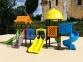 Уличный детский игровой комплекс с качелями и горками  ИК-031