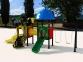 Уличный детский игровой комплекс с качелями и горками  ИК-005