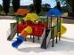 Уличный детский игровой комплекс с качелями и горками  ИК-004